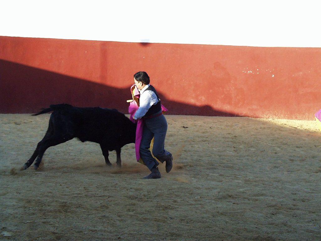 Capea en la plaza de toros de Dehesa Bolaños