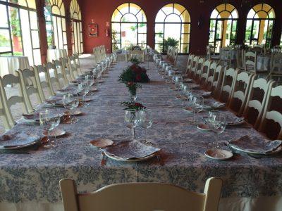 Mesa imperial para comunión en Dehesa Bolaños