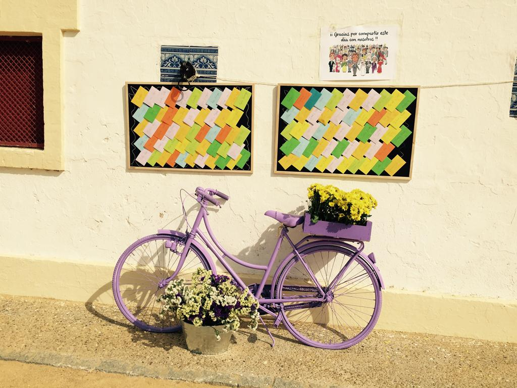 Tarjetas invitados bicicleta - Boda Isabel & Manolo en Dehesa Bolaños