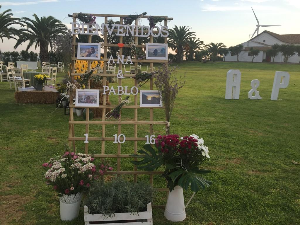 Cartel de bienvenida - Boda Ana & Pablo en Dehesa Bolaños
