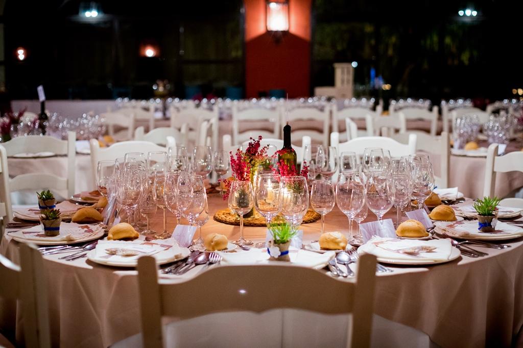 Mesas cena - Boda María & Ale en Dehesa Bolaños